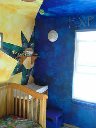 paint star night sky themed nursery