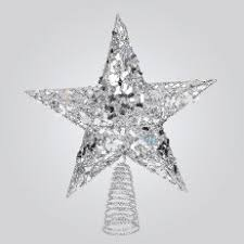 Retro Christmas Tree Toppers - retro phone co festive 3d wire shaped silver glitter and pearls