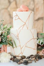 shimmer chic 19 copper and rose gold wedding cakes rose gold