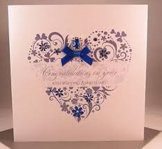 45th wedding anniversary luxury sapphire 45th wedding anniversary card parents