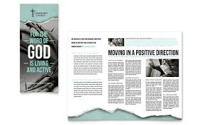 Church Programs Templates Bible Church Brochure Template Design