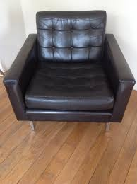 Leather Mid Century Chair Mid Century Black Leather Club Chair For Sale At Pamono