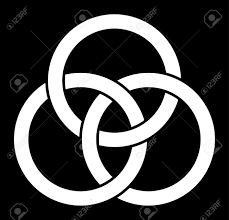 borromean ring borromean rings three interlaced rings royalty free cliparts