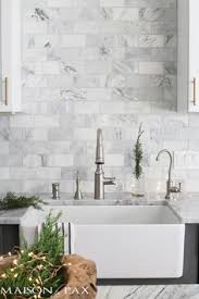 White Backsplash Kitchen by Gray And White Herringbone Backsplash Kitchen Decor Ideas Home