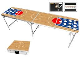 Beer Pong Table Premium HD Basketball Design  Long Bottle - Beer pong table designs
