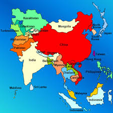 map of asia countries and cities summer and term in asia
