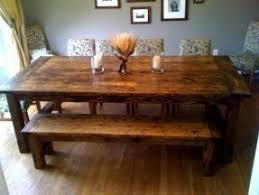 Rustic Farmhouse Dining Table With Bench Farmhouse Dining Table With Bench Foter
