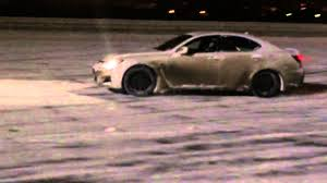 lexus ksa jeddah lexus is f snow drift youtube