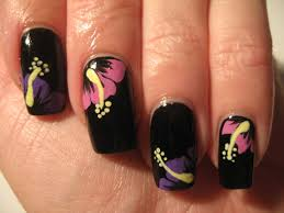 nail art tropical winter flowers youtube