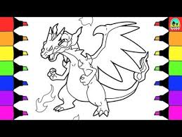 pokemon coloring pages mega evolution charizard colouring book