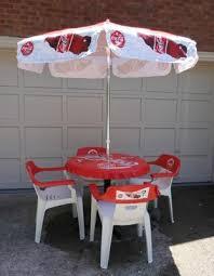 coca cola table and chairs coca cola outdoor furniture furniture designs
