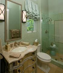 guest bathroom designs with double oval wall mounted mirrored over