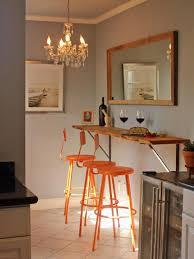 kitchen impressive small wall mounted breakfast bar orange metal