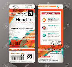 invitation card design template for event modern design boarding pass ticket event invitation card vector