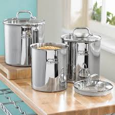 kitchen canisters stainless steel 19 best stainless steel canister sets images on