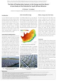 the role of floating solar energy systems in the energy land use