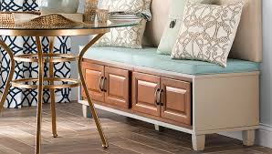 Wood Bench With Storage Stock Cabinet Bench