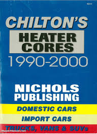 chilton 1990 2000 heater core installation manual ch9311