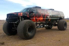 bigfoot the monster truck sin city hustler combines excursion limo monster truck