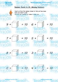 number bonds to 10 missing numbers teach my kids