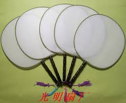 Hand Fan Wedding Programs Aliexpress Com Buy Diy Blank White Silk Hand Fans With Handle