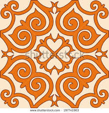 kazakh traditional ornament vector seamless pattern stock vector