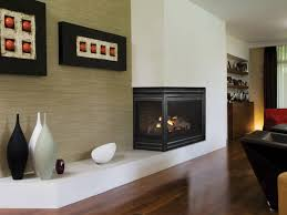 contemporary two sided gas fireplace h u0026d renovation une petite