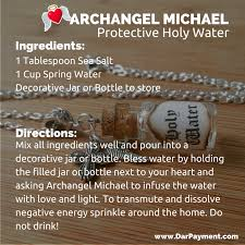 archangel michael protective holy water to transmute and clear