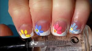 nail art designs quick and easy flower for spring nail art