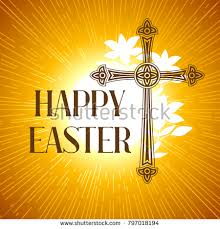 easter greeting cards religious silhouette ornate cross happy easter concept stock vector 797018194