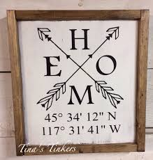 personalized housewarming gifts home sign with coordinates longitude and latitude home