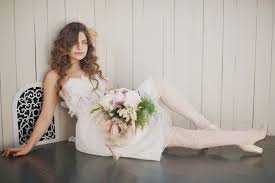 wedding dress with white tights