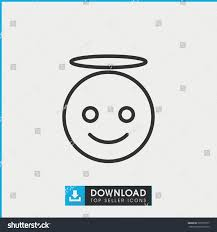 emoji angel icon simple outline emoji stock vector 591079577