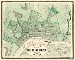 Old United States Map by Old City Map New Albany Indiana 1876