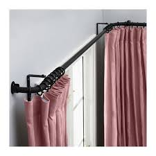Ikea Curtain Rod Decor Best 25 Bay Window Curtain Rod Ideas On Pinterest Corner