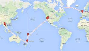 South African Airways Route Map by My Top 7 Gap Year Routes And Round The World Ticket Ideas