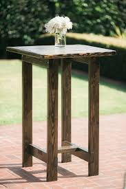rustic high top table high top tables rustic events