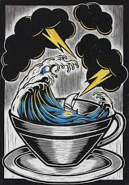 storm in a teacup storm in a teacup red sea teacup figurative and