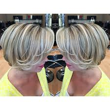 short hair with blonde ashy highlights and lowlights hair by