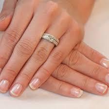 ring set wedding diamond ring set for girl s finger trendy mods