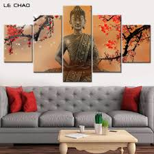 buddha flower promotion shop for promotional buddha flower on canvas painting wall paper home decor flowers and buddha modular wall paintings posters and prints canvas art wall drop shipping