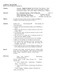 aaron mcginnis resume and cover letter teaching