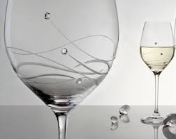 beautiful wine glasses personalised wine glass with beautiful swarovski crystals gift