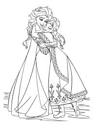frozen elsa coloring pages 4 nice coloring pages kids