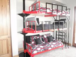 three bunk beds bed bunk bed for three home interior decorating ideas