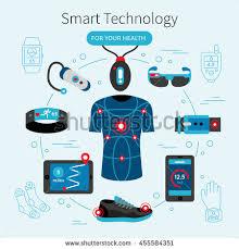 smart tecnology smart technology line poster headline your stock vector 455584351
