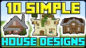 10 simple house designs that you can use in minecraft pe youtube