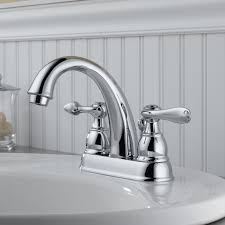 delta windemere centerset double handle bathroom faucet with drain