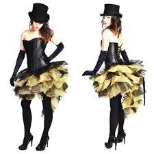 Moulin Rouge Halloween Costume Gold Black Burlesque Costume Skirt Moulin Rouge Mardi Gras Dress
