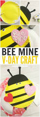 bee mine valentines day paper plate craft best paper plate